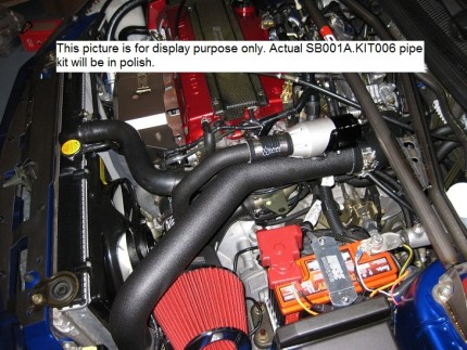 Evo 8/9 IC Pipe Kit - Polished Aluminum