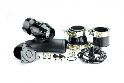 Hyundai Genesis 2.0T 2010-2012 Synchronic BOV Kit with Black Powdercoat Charge Pipe Black/Black BOV