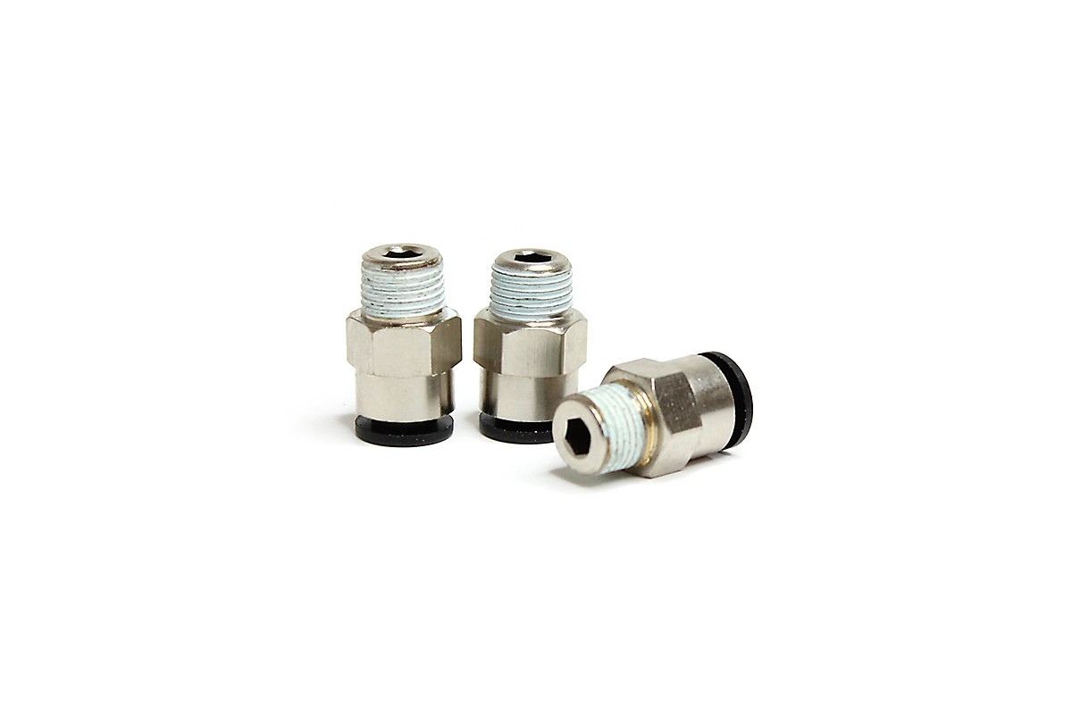 """Low Temp Straight 1/8"""" NPT Fitting (3 piece pack)"""
