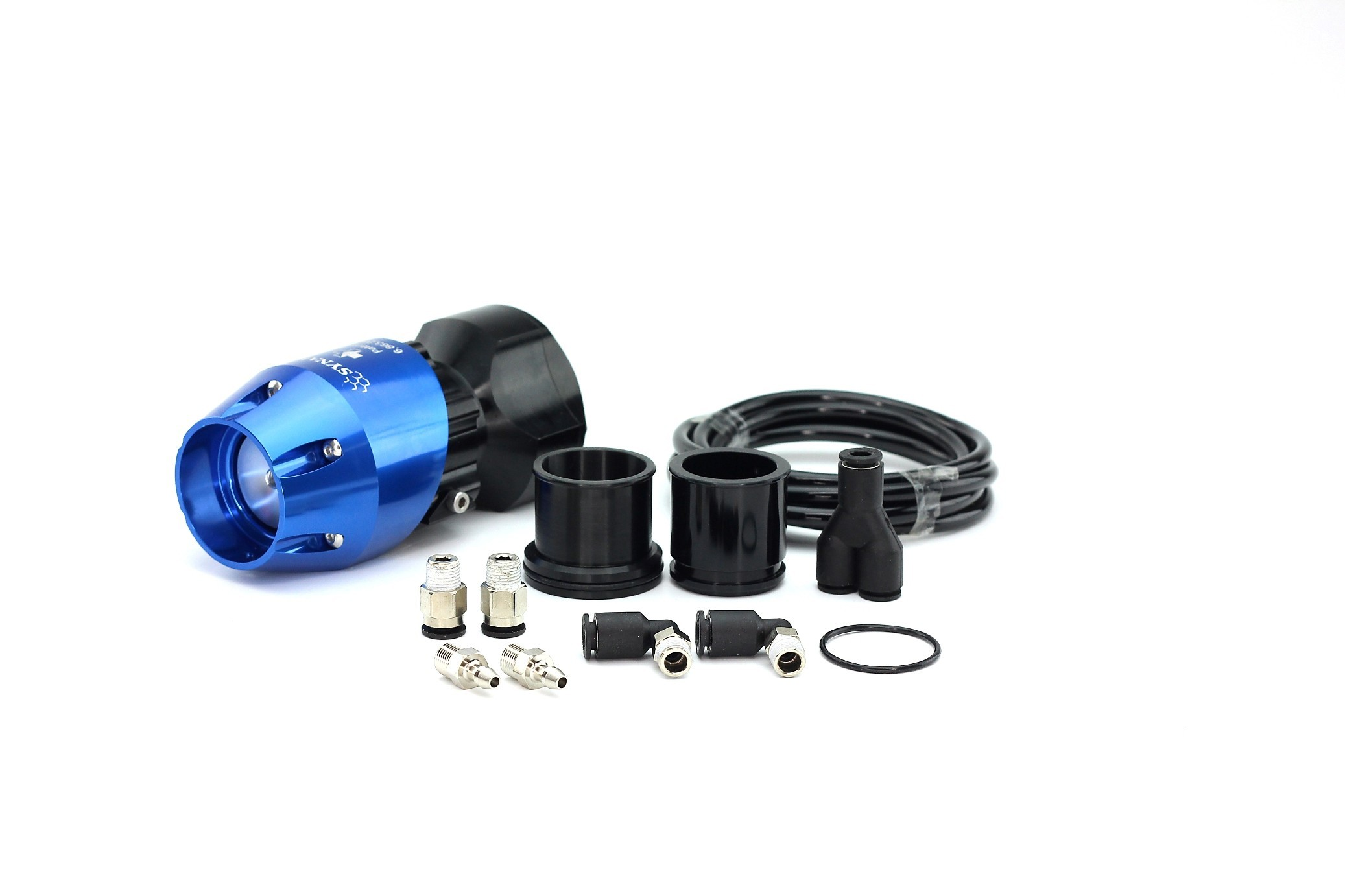 Mitsubishi Eclipse GST/GSX 1995-1999, Evo 6 and Eagle Talon TSi 1995-1999 Synchronic BOV Kit Blue/Black BOV
