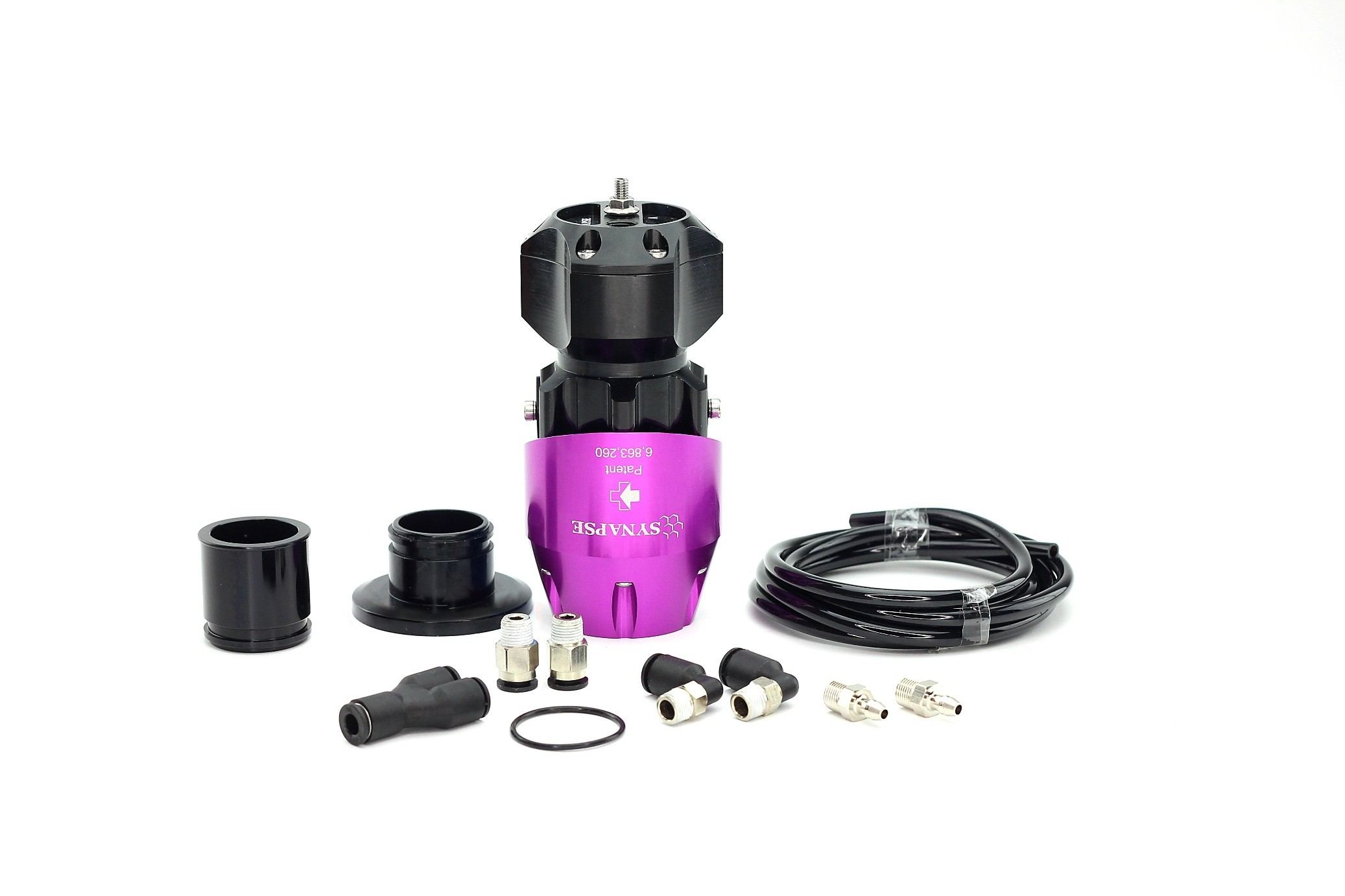 Synchronic BOV Kit to replace HKS SSQV - Purple/Black BOV