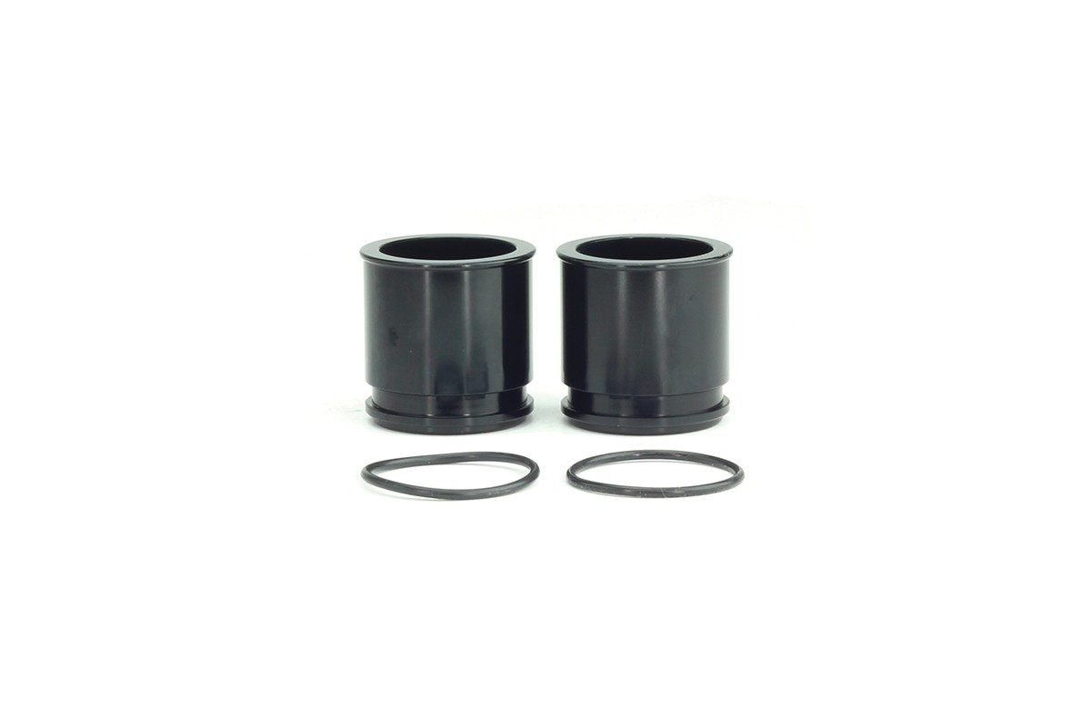 "1 3/8"" (34 mm) Inlet Flange for Synchronic BOV/DV/R35 in Black, 2-Pack"