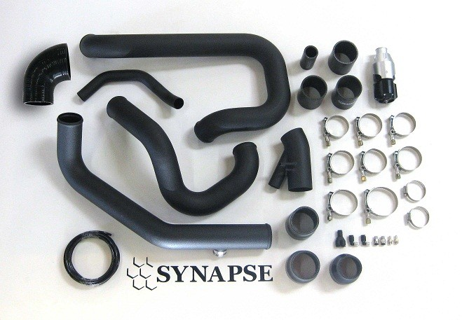 Evo 8/9 IC Pipe Kit with BOV - Black Powdercoat