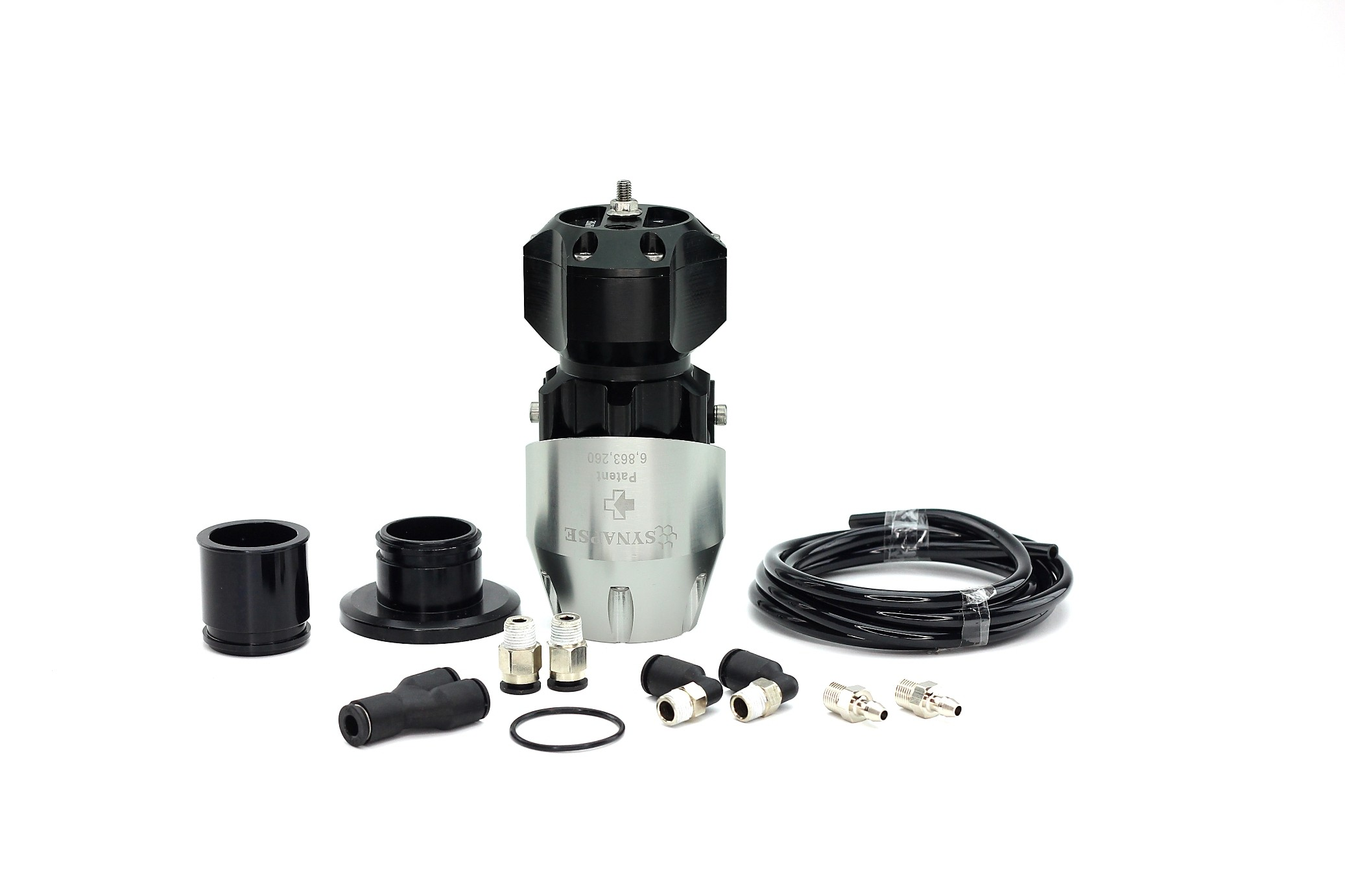 Synchronic BOV Kit to replace TiAL - Silver/Black BOV