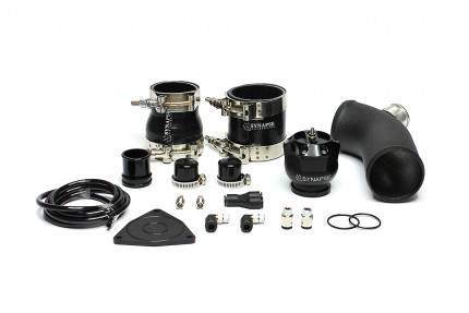 Hyundai Veloster 2012-16 Synchronic V2 Diverter Valve Kit with Black Powdercoat Charge Pipe - Black DV