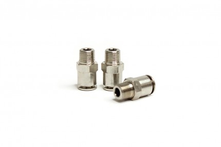 "Hi Temp Straight 1/8"" NPT Fitting (3 piece pack)"