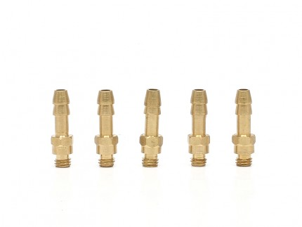 Brass Port Fittings for Synchronic Wastegate & v1 BOV (5pcs)