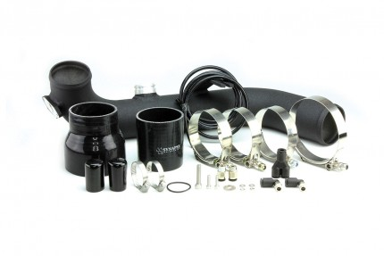 BMW 135i/335i 2007-2010 Synchronic Charge Pipe Kit Black Powdercoat - NO BOV