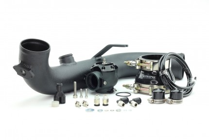 BMW 135i/335i 2007-2010 N54 Synchronic BOV Kit with Black Powdercoat Charge Pipe Black DV