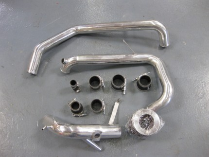 Used Polished Evo X IC Pipe Kit