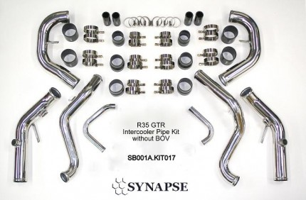 GTR R35 IC Piping Kit - Polished Aluminum