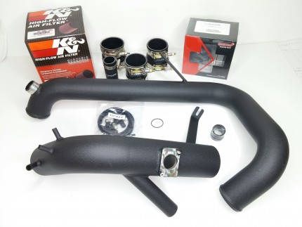 Evo X Cold Side Piping Kit with DV - Black Powdercoat