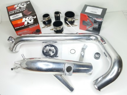 Evo X Cold Side Piping Kit with DV - Polished Aluminum