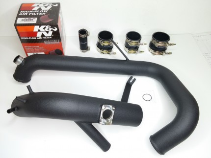 Evo X Cold Side Piping Kit - Black Powdercoat