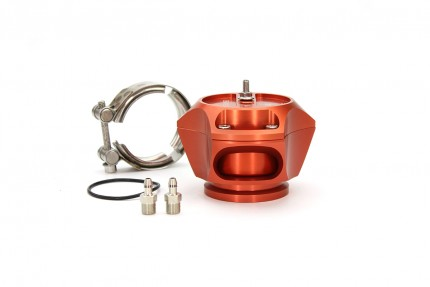 R55V Orange BOV w/ SS V-Band clamp only for kit builders. The Synchronic R55V Trident blow-off valve is a full atmospheric Radial style BOV with a 55 mm valve body designed to fit existing 50 mm flange designs on the market. It incorporates ultra-fast act