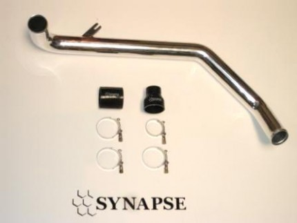Evo X Upper IC Pipe Kit - Polished Aluminum