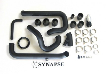 Evo 8/9 IC Pipe Kit for Small Battery with BOV - Black Powdercoat