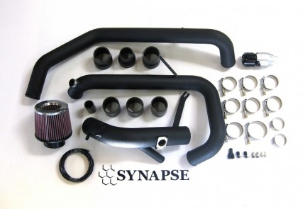 Evo X IC Pipe Kit with BOV - Black Powdercoat