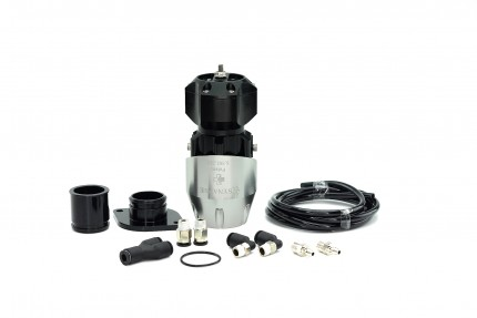 Synchronic BOV Kit to replace GReddy - Silver/Black BOV