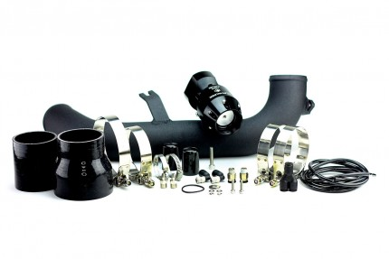 BMW 135i/335i 2007-2010 N54 Synchronic BOV Kit with Black Powdercoat Charge Pipe Black/Black BOV