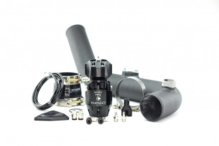 Hyundai Genesis 2.0T 2013 Synchronic BOV Kit with Black Powdercoat Charge Pipe - Black/Black BOV