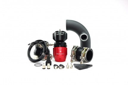 Hyundai Genesis 2.0T 2010-2012 Synchronic BOV Kit with Black Powdercoat Charge Pipe Red/Black BOV